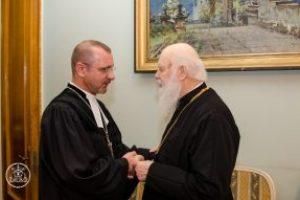 Патріарх Філарет зустрівся з головним єпископом Німецької Євангелично-Лютеранської Церкви України