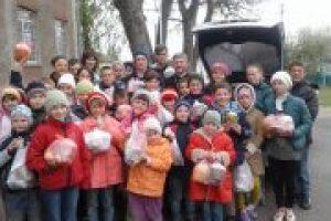 Дітей з школи-інтернат на Вінничині привітали з Великоднем