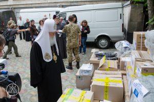 Патріарх Філарет передав ушпиталівзоніАТОліки від українців Америки