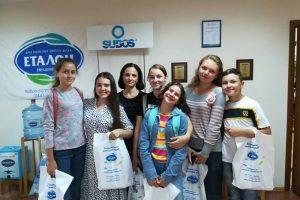 """За ініціативи Синодального відділу соціального служіння і благодійності """"Елеос-Україна"""" TeenClub відвідав виробництво питної води."""