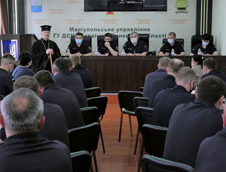 Архієпископ Сергій вручив нагороди особовому складу Головного управління ДСНС України у Донецькій області.