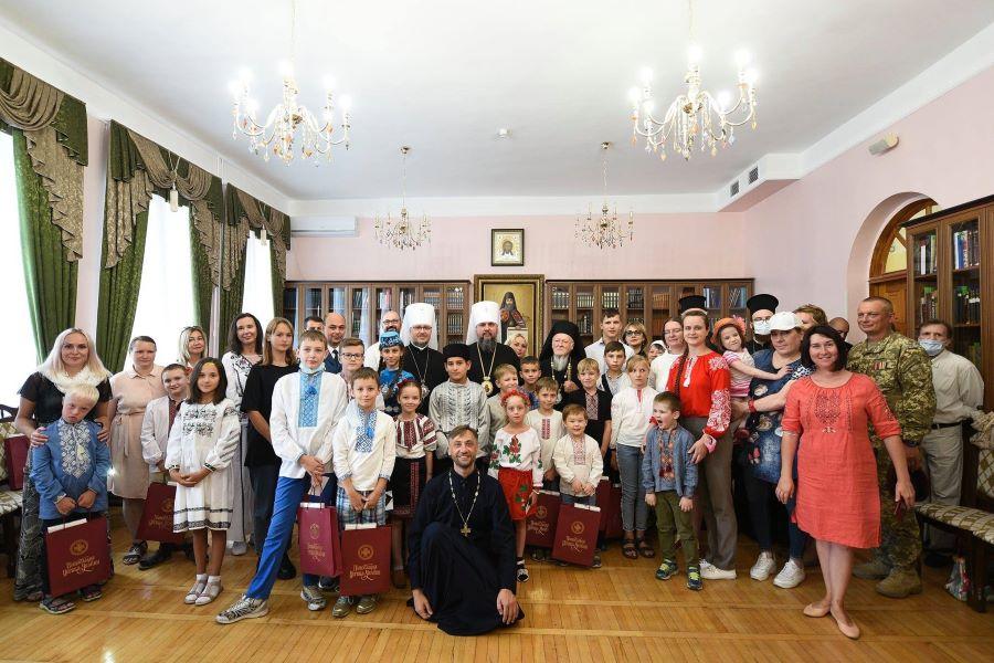 Вселенський Патріарх та Митрополит Епіфаній зустрілися з  українськими дітьми